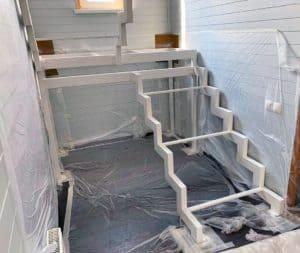 Лестница под обшивку